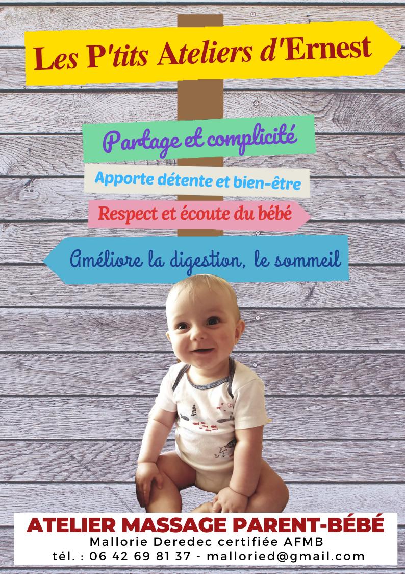 Les p'tits ateliers d'Ernest - communication massage bébé